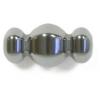 Hematite 10x12mm 3-barrels 16f-Edge Fancy Bead